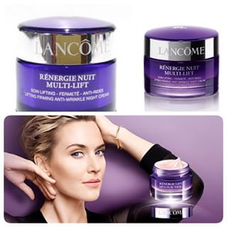**�������**Lancome Renergie Nuit Multi-Lift Lifting Firming Anti-Wrinkle Night Cream ��Ҵ���ͧ 15ml. 乷���������ʹ��Ե�����㹡��¡��ЪѺ���˹�� ���ͤ�������� ����͹���Ѻ��÷�Treatment ����� ¡��ЪѺ��������ҧ�ç�ش �����Ŵ���͹������� �ͺ�����ʷ