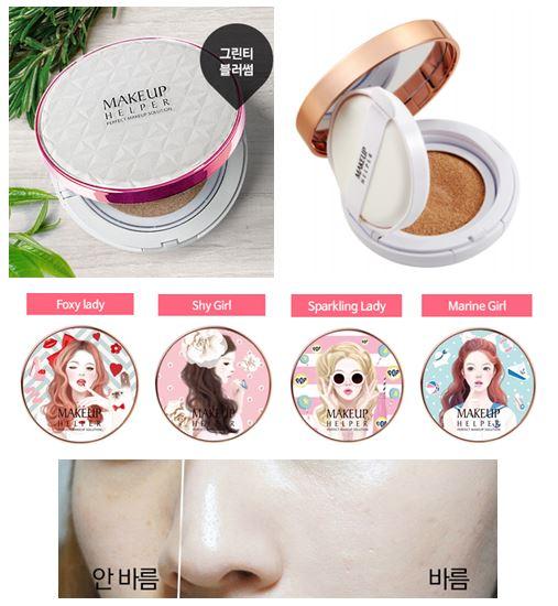 รูปภาพที่1 ของสินค้า : **พร้อมส่ง**Makeup Helper Double Cushion Green Tea Blossom SPF50+ 24g. แป้งดับเบิ้ลคุชชั่นใหม่!!! ส่งตรงจากเกาหลี สูตรชาเขียว ควบคุมความมัน กระชับรูขุมขน หน้าเนียนกระจ่างใสตลอดวัน ในแพคเกจใหม่ล่าสุด 4 แบบ น่ารักไม่ซ้ำใครคะ