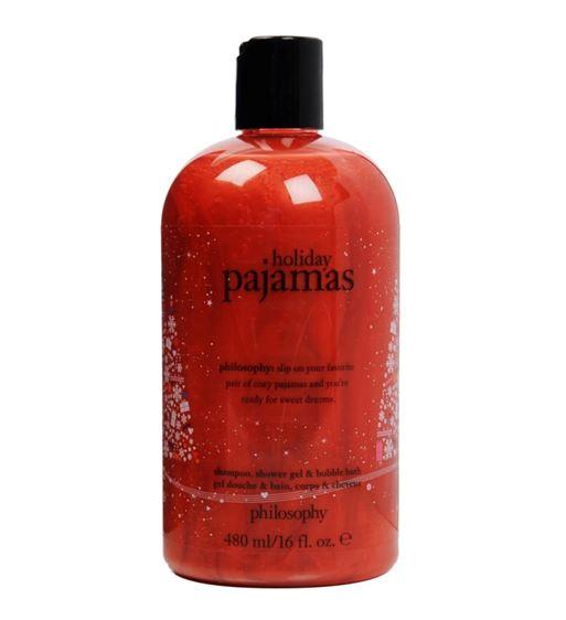 รูปภาพที่1 ของสินค้า : **พร้อมส่ง**Philosophy Shampoo, Shower Gel & Bubble Bath 480 ml. (Limited Edition) กลิ่น Holiday Pajamas เจลอาบน้ำกลิ่นหอมลิมิเต็ดอิดิชั่น กลิ่นโทนอบอุ่น กลิ่นนี้ยิ่งอาบก่อนนอนจะช่วยให้ผ่อนคลายได้อย่างดีค่ะ พร้อมประสิทธิภาพ 3 ประการในหนึ่งเดียว สามารถ