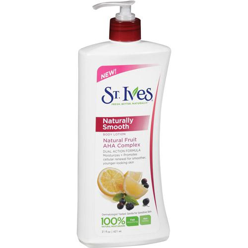 **�������**St. Ives Naturally Smooth Body Lotion Natural Fruit  AHA Complex 21 Fl Oz/ 621 ml.�Ū�蹺��ا������º��¹���ҧ�繸����ҵ� �ҡ��ǹ����ͧ����� AHA ������觡�ü�Ѵ������ ��������Ƿ����Һ���ҹ��͹�������º��¹����¼��������������¹�������